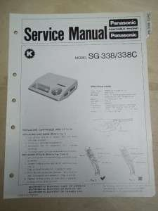 Panasonic Service Manual~SG 338/C Record Player~Original