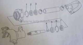 Jetski   kit réparation arbre YAMAHA SJ, FX1, GP, XL,FX