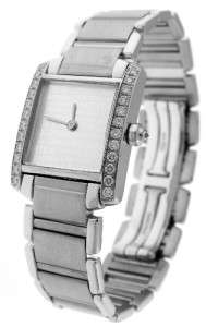 Cartier Tank Francaise Anniversary 2403 18K White Gold Diamond Watch