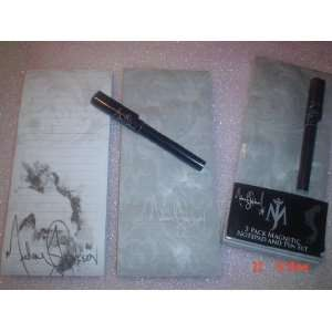 Michael Jackson 3 Piece Set Magnetic Notpads and Pen