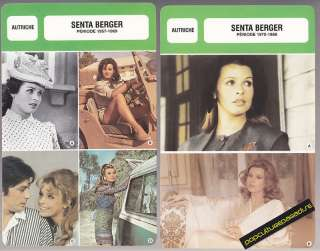 SENTA BERGER Movie Star FRENCH BIOGRAPHY PHOTO 2 CARDS