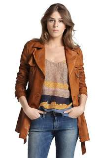 Lamb leather coat Joya D by BOSS Orange