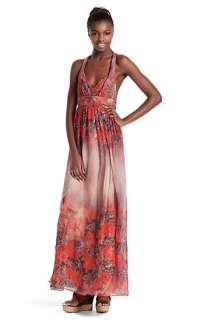 Pure silk maxi dress Avenna W by BOSS Orange