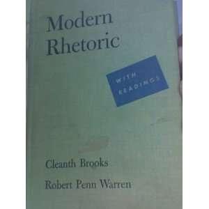 MODERN RHEORIC CLEANH BROOKS, ROBER PENN WARREN Books