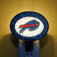 Buffalo Bills Art Glass Night Light