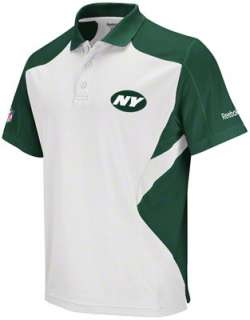 New York Jets White 2011 Sideline Standout Polo Shirt