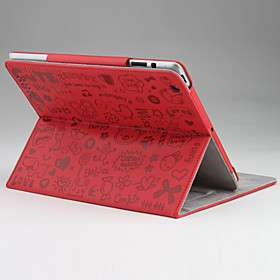 US$ 17.99   Cuty Icons PU Leather Case / Stand for Apple iPad 2, Free