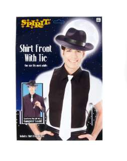 Transform any suit into a gangster look with this black shirt front