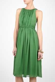 Tibi  Emerald Green Sleeveless Dress by Tibi
