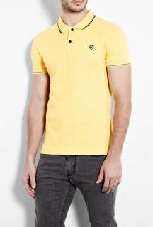McQ Alexander McQueen  Yellow Tipped Slim Polo Shirt by McQ Alexander