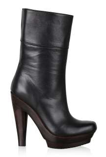 Black High Platform Calf Boot by Scholl   Black   Buy Boots Online at