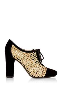 Marc by Marc Jacobs  Gold Lattice Lace Up Heel by Marc By Marc Jacobs