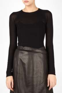 Marc by Marc Jacobs  Black Skinny Hustle Sweater by Marc By Marc