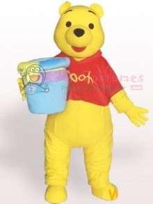 Pooh Bear Short Plush Adult Mascot Costume  Buy Winnie Pooh Bear