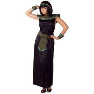Black/Gold Cleopatra Adult Costume   Includes dress, collar, cuffs