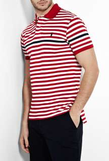 Polo Ralph Lauren  White Red Navy Stripe Polo Shirt by Polo Ralph