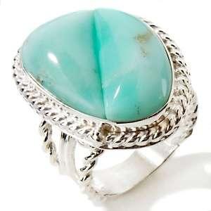 Jay King Green Opal Sterling Silver Freeform Ring