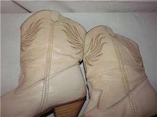 Womens Vintage DINGO Beige Leather Western Cowboy Boots 8
