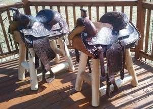 Western Horse Saddle Bar Stools Barstools Decor Counter Rustic Log