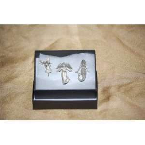 Pewter Pin Badges Magical Mermaid Angel Flower Fairy