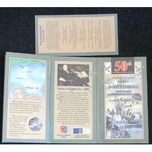 Anniversary of the D Day landings   Fifty Pence Commemorative Coin