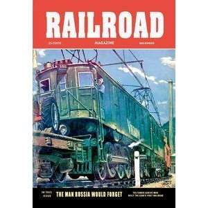 Vintage Art Railroad Magazine: The Virginian, 1952   06116