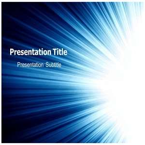 Flashing Light PowerPoint Template   Backgrounds PowerPoint Templates