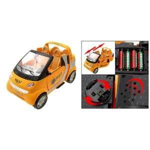 Como Fashion Yellow Flashing Music Battery Powered Car Auto Toy Baby