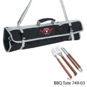 (Ohio) Printed 3 Piece BBQ Tote BBQ set Black Sports & Outdoors