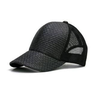 5 Panel Straw Tweed Mesh Baseball Cap  Khaki/ White