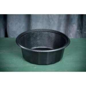 Genpak Round Microwave Safe Containers, 32 oz, Plastic, Black