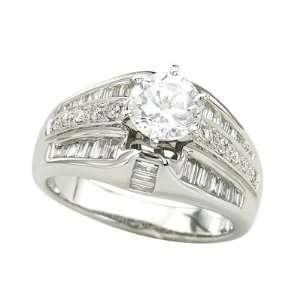 14K White Gold Diamond Bridal Set Semi Mount Bridal Engagement Ring