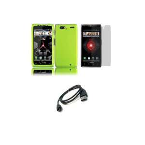 MAXX (Verizon) Premium Combo Pack   Neon Green Hard Shield Case Cover