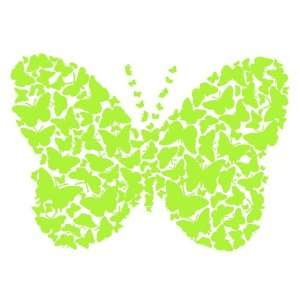 Wall Hugs Butterfly Colony Wall Decal, Apple Green