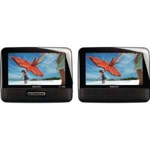 /37 DUAL SCREENS PORTABLE LCD DVD PLAYER (7) PHLPD7012 Electronics