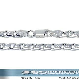 Flat Gucci Mariner Link Chain Necklace Gauge 250 (24, 30): Jewelry