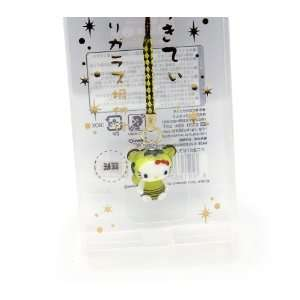 Kitty Chinese Zodiac Glass Netsuke Cell Phone Charm (Tiger) Toys