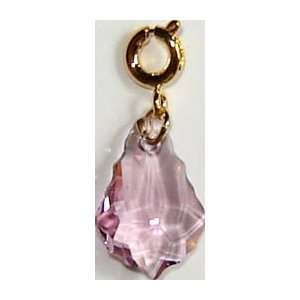 14K Gold Plated Swarovski Crystal Charm Arts, Crafts