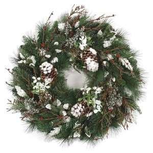30 Snow Mixed Pine Artificial Christmas Wreath