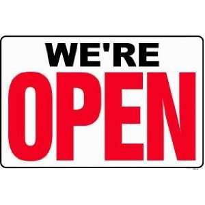 OPEN (Back side is CLOSED) 24x36 Heavy Duty Plastic Sign Everything