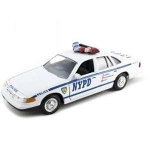 Ford Crown Victoria Nypd Diecast Car Model 1/24 Toys & Games