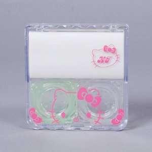 Hello Kitty Contact Lens Case Box Mirror White