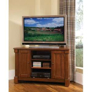 Aspen Rustic Cherry Corner TV Stand