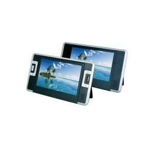 Inch Dual Screen Portable DVD Player with USB?SD Card Reader (Black