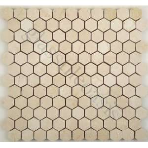 Crema Marfil Hexagon Cream/Beige Kitchen Polished Stone