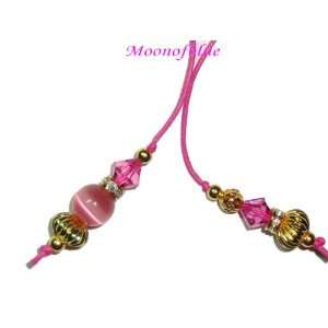 Swarovski Crystal Cats Eye Bead Thong Bookmark #BKT23