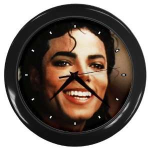 Cute Michael Jackson King of Pop Black Wall Clock
