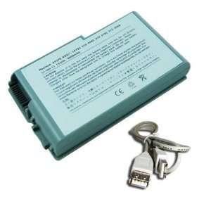4400mAh Battery for Dell Latitude D500 D505 D510 D520 D600 D610 Laptop