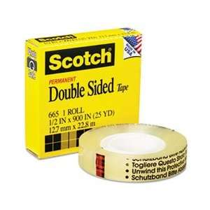 Scotch® MMM 66512900 DOUBLE SIDED OFFICE TAPE, 1/2 X 900