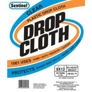 Handy 9 by 12 Clear Plastic Drop Cloth #DC90295